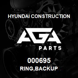 000695 Hyundai Construction RING,BACKUP | AGA Parts