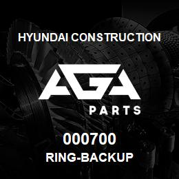 000700 Hyundai Construction RING-BACKUP | AGA Parts