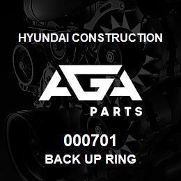 000701 Hyundai Construction BACK UP RING   AGA Parts
