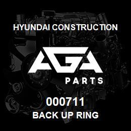 000711 Hyundai Construction BACK UP RING   AGA Parts