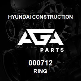 000712 Hyundai Construction RING | AGA Parts