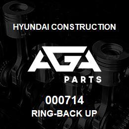 000714 Hyundai Construction RING-BACK UP | AGA Parts