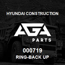 000719 Hyundai Construction RING-BACK UP | AGA Parts