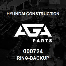 000724 Hyundai Construction RING-BACKUP | AGA Parts