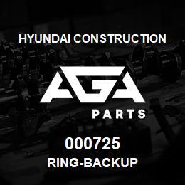 000725 Hyundai Construction RING-BACKUP | AGA Parts