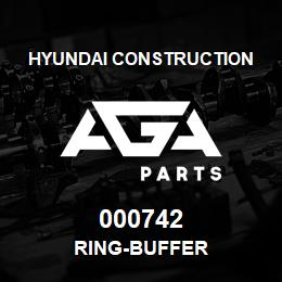 000742 Hyundai Construction RING-BUFFER | AGA Parts