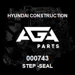 000743 Hyundai Construction STEP -SEAL | AGA Parts