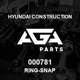 000781 Hyundai Construction RING-SNAP   AGA Parts