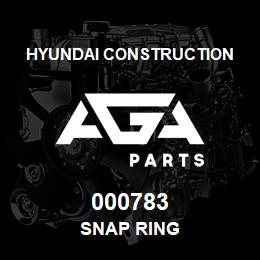 000783 Hyundai Construction SNAP RING | AGA Parts