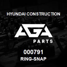 000791 Hyundai Construction RING-SNAP | AGA Parts