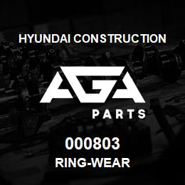 000803 Hyundai Construction RING-WEAR | AGA Parts