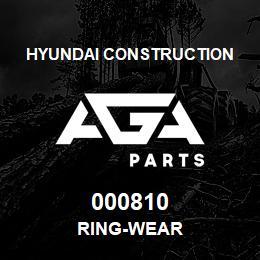 000810 Hyundai Construction RING-WEAR   AGA Parts