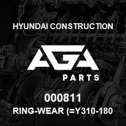 000811 Hyundai Construction RING-WEAR (=Y310-180000) | AGA Parts