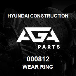000812 Hyundai Construction WEAR RING | AGA Parts