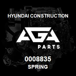 0008835 Hyundai Construction SPRING | AGA Parts