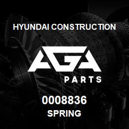0008836 Hyundai Construction SPRING | AGA Parts