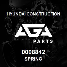 0008842 Hyundai Construction SPRING | AGA Parts