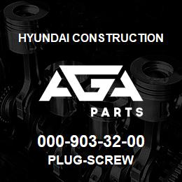 000-903-32-00 Hyundai Construction PLUG-SCREW | AGA Parts