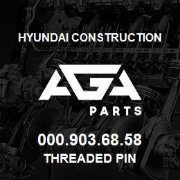 000.903.68.58 Hyundai Construction THREADED PIN | AGA Parts