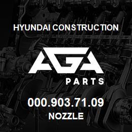 000.903.71.09 Hyundai Construction NOZZLE | AGA Parts