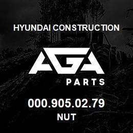 000.905.02.79 Hyundai Construction NUT   AGA Parts