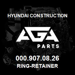 000.907.08.26 Hyundai Construction RING-RETAINER | AGA Parts