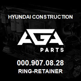 000.907.08.28 Hyundai Construction RING-RETAINER | AGA Parts