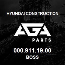 000.911.19.00 Hyundai Construction BOSS | AGA Parts
