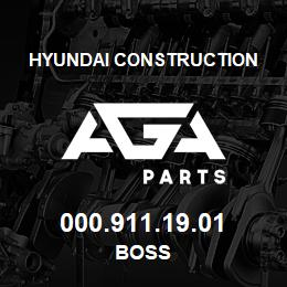 000.911.19.01 Hyundai Construction BOSS | AGA Parts