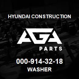 000-914-32-18 Hyundai Construction WASHER | AGA Parts