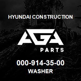 000-914-35-00 Hyundai Construction WASHER | AGA Parts