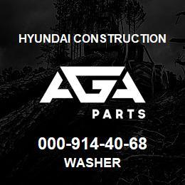 000-914-40-68 Hyundai Construction WASHER | AGA Parts