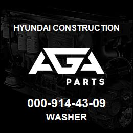 000-914-43-09 Hyundai Construction WASHER | AGA Parts