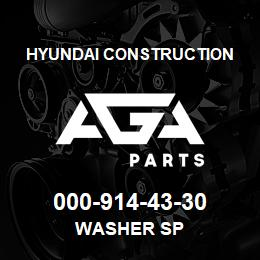 000-914-43-30 Hyundai Construction WASHER SP | AGA Parts