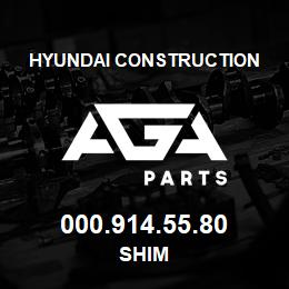 000.914.55.80 Hyundai Construction SHIM | AGA Parts