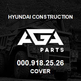 000.918.25.26 Hyundai Construction COVER | AGA Parts