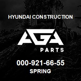 000-921-66-55 Hyundai Construction SPRING | AGA Parts