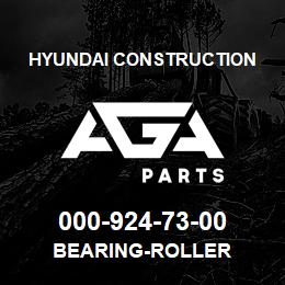 000-924-73-00 Hyundai Construction BEARING-ROLLER | AGA Parts