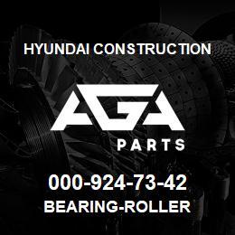 000-924-73-42 Hyundai Construction BEARING-ROLLER | AGA Parts