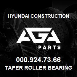 000.924.73.66 Hyundai Construction TAPER ROLLER BEARING | AGA Parts