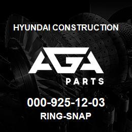 000-925-12-03 Hyundai Construction RING-SNAP   AGA Parts