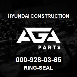 000-928-03-65 Hyundai Construction RING-SEAL | AGA Parts