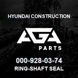 000-928-03-74 Hyundai Construction RING-SHAFT SEAL | AGA Parts