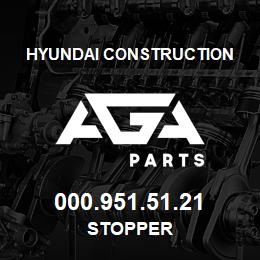 000.951.51.21 Hyundai Construction STOPPER | AGA Parts