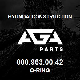 000.963.00.42 Hyundai Construction O-RING | AGA Parts
