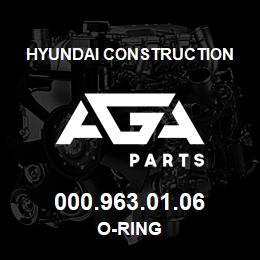 000.963.01.06 Hyundai Construction O-RING | AGA Parts