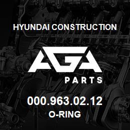 000.963.02.12 Hyundai Construction O-RING | AGA Parts
