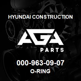 000-963-09-07 Hyundai Construction O-RING | AGA Parts