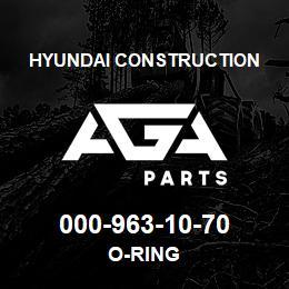 000-963-10-70 Hyundai Construction O-RING | AGA Parts