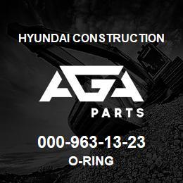 000-963-13-23 Hyundai Construction O-RING | AGA Parts